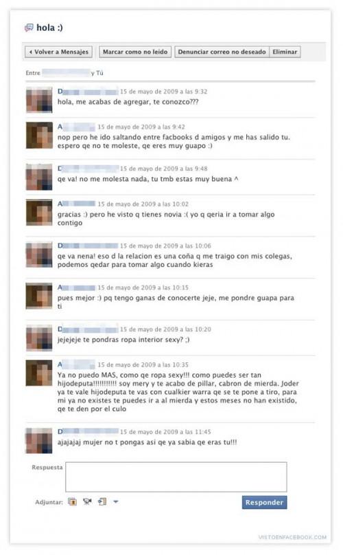 Novio que cae en la trampa en Facebook
