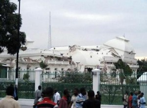 Palacio presidencial de Haití después del terremoto