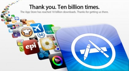 10 mil millones de descargas en la App Store de Apple