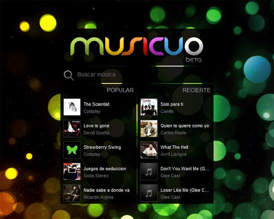 Musicuo: música online en HTML5