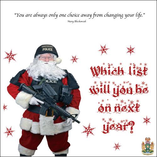 policia envia postales navidad delincuentes