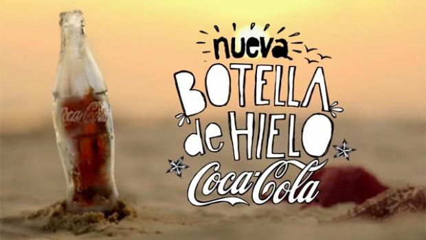 coca cola botella hielo