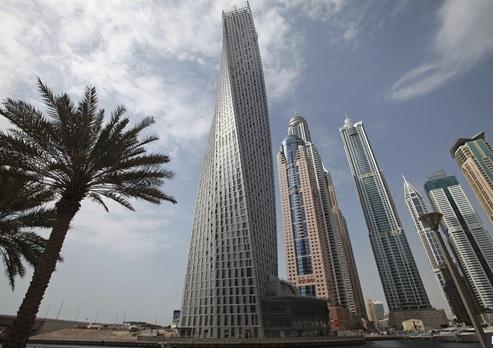 torre cayan-edificio forma espiral mas alto del mundo