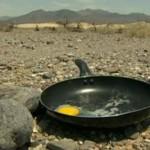 Freír huevos al sol se vuelve furor en Valle de La Muerte
