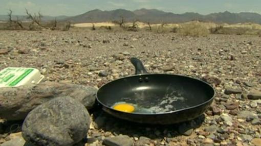 freir huevos sol furor valle de la muerte