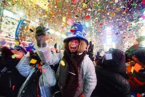 Nueva York celebra el año nuevo