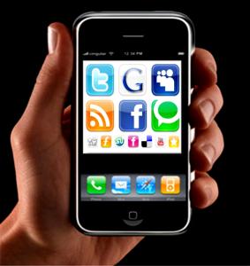 redes sociales smartphones