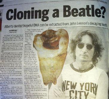 dentista quiere clonar john lennon con diente